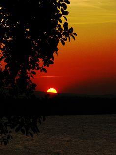 Sunset over Kandalama Lake, Sri Lanka