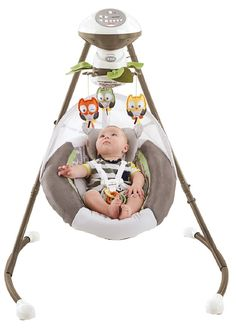 Fisher-Price My Little Snugabear Cradle 'n Swing Get the soothing motion babies love—and the break your arms need!—with the Fisher-Price Auto Rock 'n Play Toddler Outdoor Playset, Baby Swing Set, Kids Swing, Swings For Sale, Baby Swings And Bouncers, Outdoor Baby, Fisher Price, Baby Gear, Baby Love