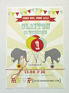 circus invite