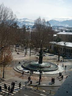 Nieve en Granada. Vistas desde el Vincci Albayzín 4*