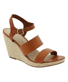 45 Pairs Of Walkable, Low-Heeled Sandals At Every Price: Gap Espadrille Wedge Sandals, $41.99, gap.com