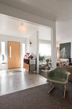 Mid-century modern entry photographed by Lucy Call