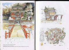 Spirited Away: 030 Miyazaki Spirited Away, Hayao Miyazaki, Spirited Away Bathhouse, Ova, Studio Ghibli, Book Art, Vintage World Maps, Gallery, Google Search