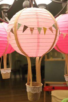 Custom paper lantern Hot Air Balloon.