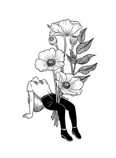 1000drawings - Let me bloom by Henn Kim