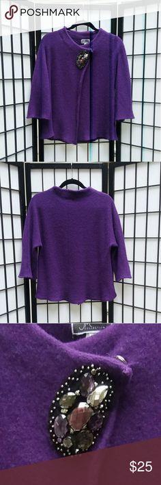 JM purple sweater Beautiful deep purple 100% wool sweater JM Sweaters Shrugs & Ponchos