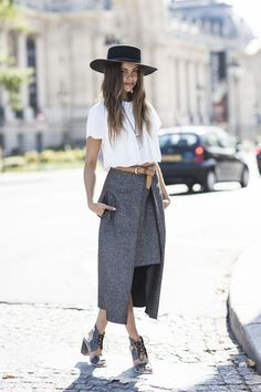 Outfit crush of the day! One of the biggest I've had in a long, long time. Need her hat! I've found a similar: http://asos.do/Q4ZlFo