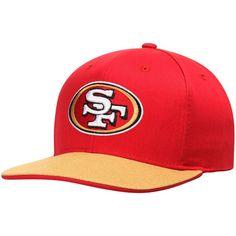 San Francisco 49ers Youth Flat Visor Snapback Adjustable Hat - Scarlet