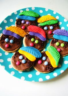 Zwarte pieten koekjes! Lekker!