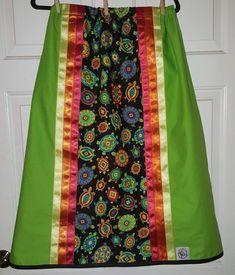 Ceremonial Turtle Native Ribbon Skirt- Made to Order Sewing Patterns Free, Free Sewing, Beading Patterns, Jingle Dress, Native American Clothing, Ribbon Skirts, Fabric Headbands, Sewing Appliques, Ribbon Work