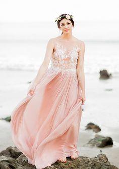 Best Wedding Dresses & Gowns Image Description Dreamy blush wedding gown: www. Country Wedding Dresses, Wedding Dresses Plus Size, Modest Wedding Dresses, Boho Wedding Dress, Bridal Gowns, Wedding Gowns, Rose Wedding, Ethereal Wedding, Blush