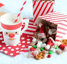 🎅🏼Make a snack for you and Santa with this North Pole Snack Mix recipe from @giggles_galore  Click the link to get the recipe.  #santasnacks #cookiesforsanta #snackmix #recipeideas #christmasrecipeideas #easyrecipeideas #orientaltrading #fun365
