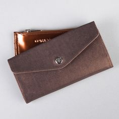 UKUM - Micha Basico Bronce Card Case, Continental Wallet, Bronze
