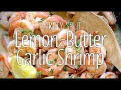 Your family will scampi* on over to the dinner table for this meal! Made in one skillet and ready in less than 20 minutes, you'll be amazed that something so simple can be so delicious. Entree Recipes, Snack Recipes, Healthy Recipes, Snacks, Lemon Garlic Butter Shrimp, Lemon Butter Sauce, Baked Shrimp Recipes, Garlic Recipes, Meat Marinade
