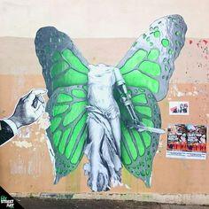 """Street Art Paris - """"Victory"""" by Ludo - Paris 20ème - http://my-street-art.paris/street-art-paris-victory-by-ludo-paris-20eme/"""