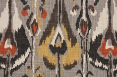 Robert Allen Ikat Bands Printed Slubbed Cotton Drapery Fabric in Greystone $20.95 per yard