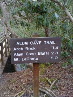 Mt Leconte Summit via Alum Cave Trl inside Great Smokey Mtn Nat'l Park.  Difficulty: Difficult  Length: 12.0 miles / 19.3 km  Duration: Full day  ....great tips for planning your hike....