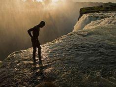 Devil's Pool, Victoria Falls, Zambia. Adrenaline overload to lean over the edge. Dry season Sept-Dec