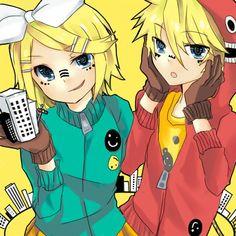 Anime  Vocaloid Kagamine Rin Kagamine Len Kagamine Mirrors