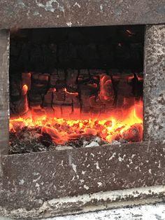 This is Mr. Dirtfarmer's ash kiln. Burning oak and cherry logs for perfect ash. mrdirtfarmer.com