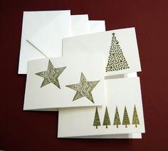 Weihnachtskarten - 2013 -Weihnachtskarten 3erSet-2 - ein Designerstück von paperfun bei DaWanda