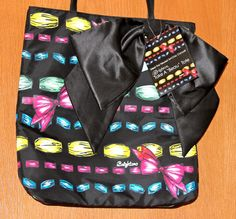 Brighton Tote Bag Shopper Purse Take a Beau Vinyl Multi Color Black Bow New  #Brighton #TotesShoppers