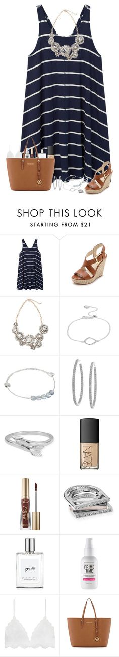 """""""Mother's Day brunch tomorrow"""" by lilypackard ❤ liked on Polyvore featuring MANGO, MICHAEL Michael Kors, Monica Vinader, Alex and Ani, Sterling Essentials, ChloBo, NARS Cosmetics, Too Faced Cosmetics, Kendra Scott and philosophy"""