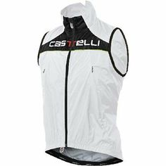Castelli 2011/12 Men's Fusione Cycling Vest - C9503 (white/yellow fluo piping - M) - http://ridingjerseys.com/castelli-201112-mens-fusione-cycling-vest-c9503-whiteyellow-fluo-piping-m/