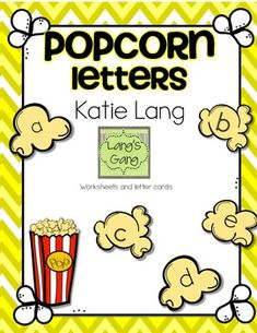 Popcorn theme letter recognition activities. Popcorn letters to print out for word wall or other reading activities. Color coded matching worksheets (upper and lower case).Cut and paste matching worksheets (lower case-with some mixed fonts to match).