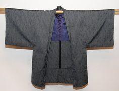 Vintage Japanese  Haori Kimono Mt.Fuji /& A Bridge