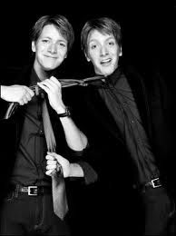 Fred and George Weasley- James Andrew Eric Phelps and Oliver Martyn John Phelps <3