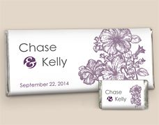 Wedding Favors Chocolate: Custom Candy Bar Wrappers