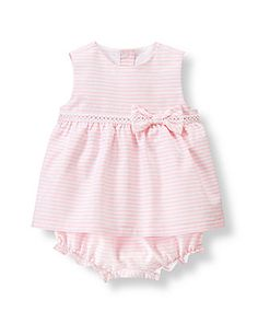 Janie and Jack Striped Swing Top Set Signature Layette