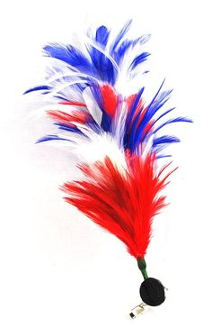 4th of July, Independance Day Hair Clip - Bendable Feathered Hair Clip Feather Red White Blue Colored - Multi Functional ** Learn more by visiting the image link.