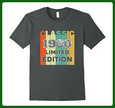 Mens Retro Classic 1960 Limited Edition Birthday Gift tshirt Large Dark Heather - Birthday shirts (*Amazon Partner-Link)