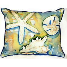 Beach Treasures Pillow from CoastalStyleGifts.com