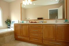 Door and drawer style: St. Bertch Cabinets, Altamonte Springs, Bathroom Cabinetry, Bath Design, Master Bathroom, New Homes, Contemporary, Building, Wood
