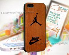 Jordan Nike Wood - Print On Hard Case iPhone 5 Case
