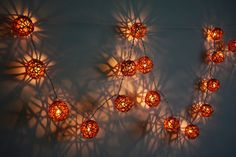 String Lights - 20  Brown Tone Rattan ball fairy  string light for home decoration,Indoor string lights,Bedroom fairy lights,Garden lights. on Etsy, $13.50