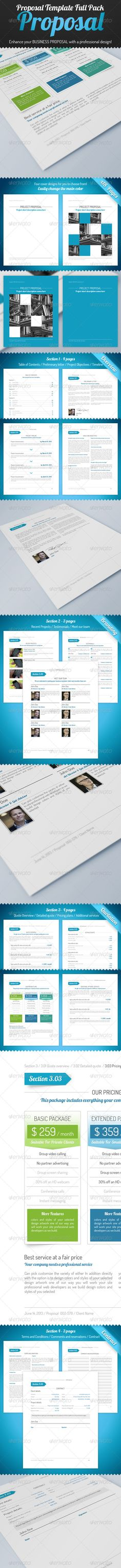 Clean Proposal \ Brief Template Creative, Briefs and Brochures - proposal layouts