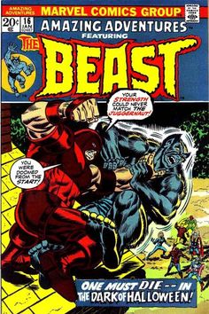 "#AgeOfXmen Nothing can stop the Juggernaut - but bad sales stop the Beast's storyline! Set in Rutland, Vermont, home of Tom Fagan's Halloween parade, and part of the great crossover with ""Thor"" 207 and ""JLA"" 103 (that one written by Len Wein; this issue colored by wife Glynis; they and this story's writer Steve Englehart - and Gerry Conway - guest star)."