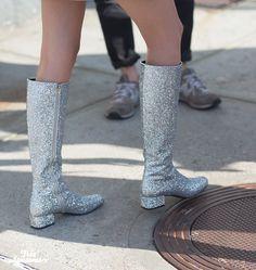 Saint Laurent Glitter Boots! Yippee! #boots #glitter #SaintLaurent