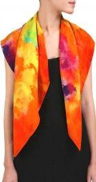 Acid wash silk scarf