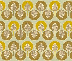 tree_hearts_yellow fabric by holli_zollinger on Spoonflower - custom fabric- $17.50/yd