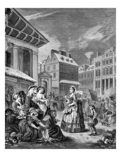 Morning, London streets - engraving by William Hogarth