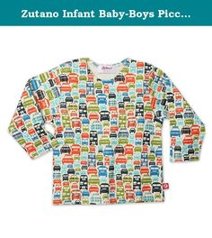 Zutano Infant Baby-Boys Piccadilly Cars Long Sleeve T-Shirt, Cream, 6 Months. Long sleeve. Interlock cotton.