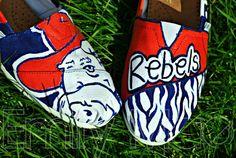 Custom hand painted TOMS Ole Miss Rebels 2 by BeyondInfinityDesign, $110.00
