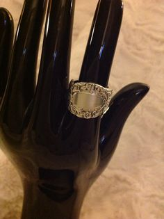 Antique spoon ring Spoon Rings, Support Local, Antiques, Business, Antiquities, Antique