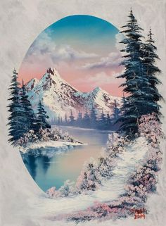 bob ross winter paradise oval