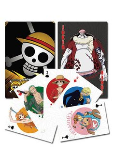 One Piece Playing Cards Have some spare time on your hands then it time to play a game or two. Relax and have some fun with friends. There great for any card game. This pack contains 52 playing cards